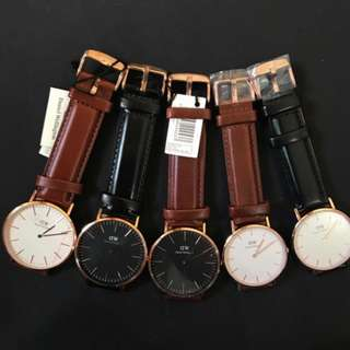 30 DAYS SALE!!! DANIEL WELLINGTON (Leather)