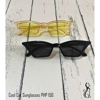Cool cat sunglasses in yellow and black
