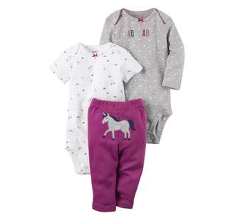*12M* Brand New Carter's 3-Piece Little Character Set For Baby Girl
