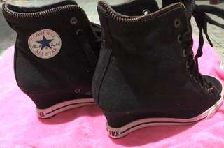 Converse Wedge Heels Shoes( size 5)