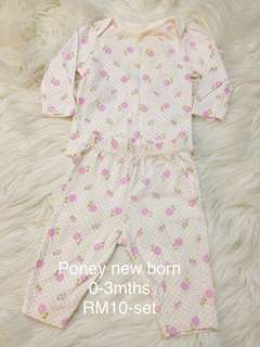 Poney newborn set 0-3m