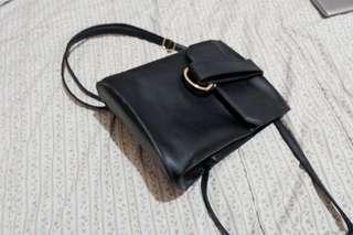 Parisian Small Faux Leather Bag