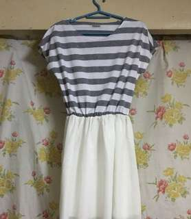 White and Gray dress