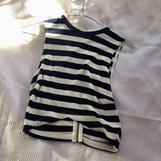Peppermayo Striped Crop