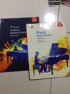 Piano books Grade 1 (Exam piece and scales&broken chords