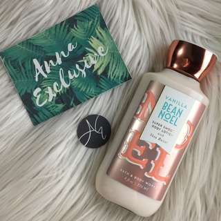 AUTHENTIC Bath & Body Works VANILLA BEAN NOEL Super Smooth Body Lotion with Shea Butter
