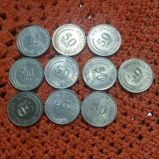 Singapore 1st Series Coin 50c 1975