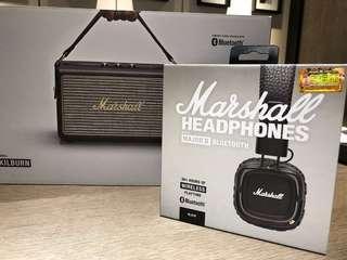MARSHALL headphones (100% new)未拆盒