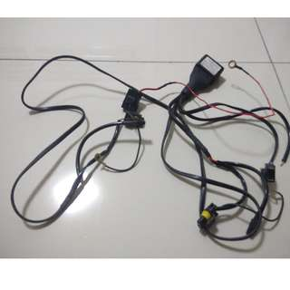 HID Wiring Harness PNP H1/H4 Soket - no Wires Cut!