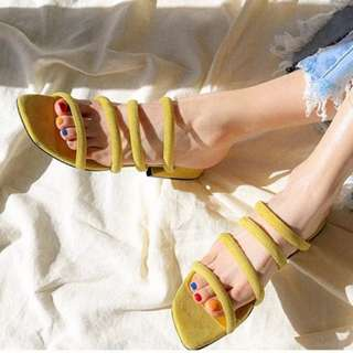 Strappy Sandals in yellow