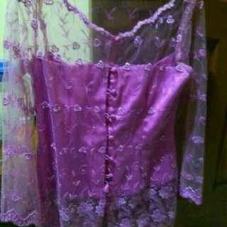 Kebaya pink uk XXL