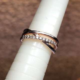 4°C 18k rose gold diamond ring