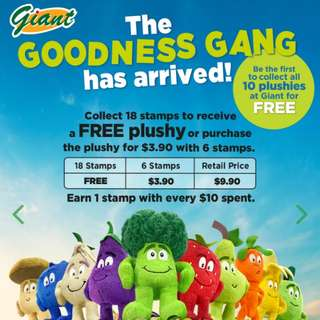 Giant Goodness Gang plush toy