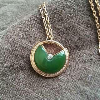 碧玉阳绿锁骨链