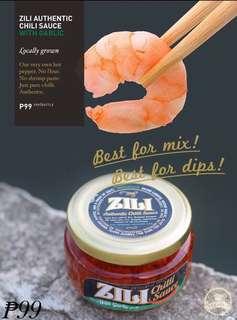 Zili with garlic chili sauce