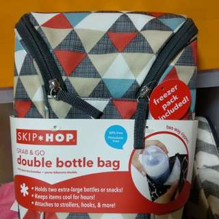 Skip hop grab & go double bottle bag