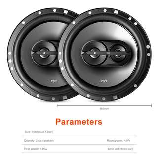 JBL CS763 PAIR OF CAR SPEAKER COAXIAL THREE-WAY 45 - 135W (BLACK)