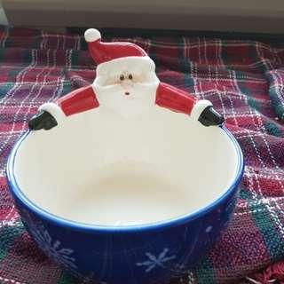 Christmas ceramic bowl