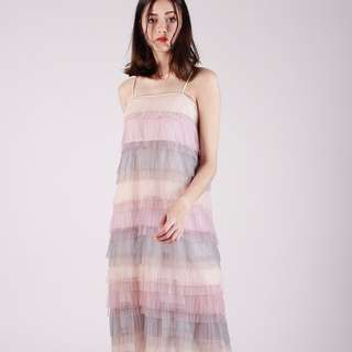 (PO) Seashore Tulle Maxi Dress