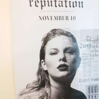 taylor swift reputation雙面海報