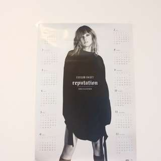 taylor swift reputation月曆海報
