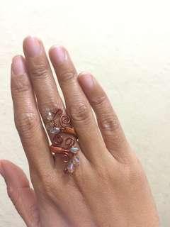 Handmade Adjustable Jewelled Ring