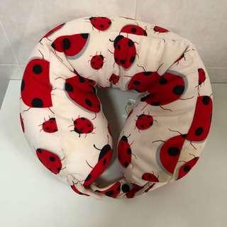 Travel Neck Microbeads Rest Pillow (ladybird)