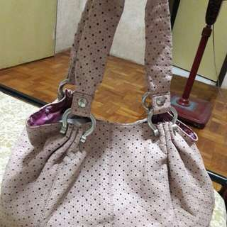 GAP Genuine Cow Leather Perforated Star Design Tote Bag