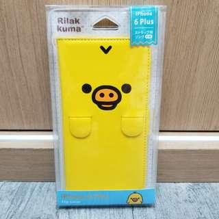 Rilakkuma 鬆馳熊 豬鼻雞 手機皮套 iPhone 6s Plus Flip Cover
