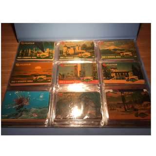 Fujifilm set of 9 Singapore Telecom phonecards