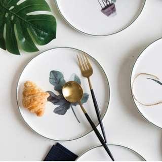 Botanical Ceramic Plate
