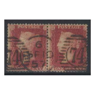 GB QV 1856-1858 SG41 USED PAIR CAT £40 BL563