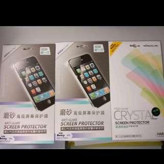 sony xperia XZ premium螢幕貼45元3張