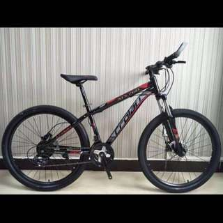 "Promo-Free delivery and accessories -barand new 26"" crolan atx 768 with hydraulic disk brakes, Suspension ,24Gears etc"