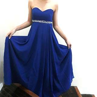 For rent/sale: Infinity gown midnight blue