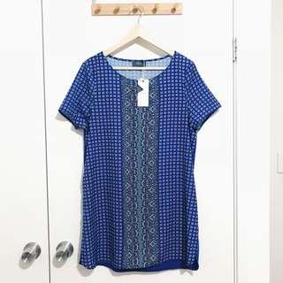 Temt Blue Patterned Top