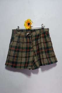 Brown Plaid Vintage Short