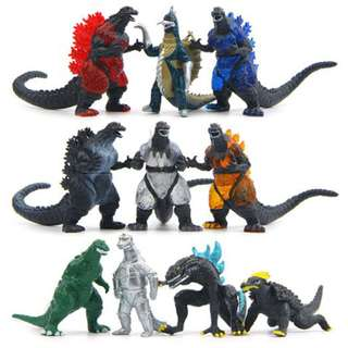 10pcs Ultraman Monster Godzilla PVC Figure Collection Cake topper