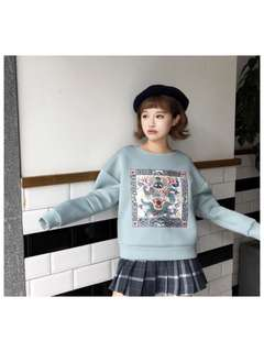 Dragon embroidered sweater