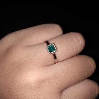 Diskon!Cincin/ ring hijau toska
