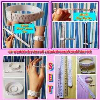 💍SET: Adjustable Ring Sizer Belt & Adjustable Bangle/Bracelet Sizer Belt