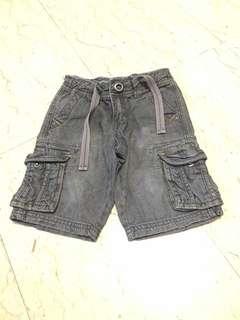 Dark Grey Bermudas Denim Jeans Shorts
