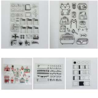 Clear Rubber Stamps for Bujo Bullet Journal.