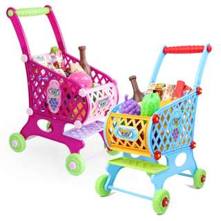Shopping Cart Grocery Supermarket Playset 46 Accessories