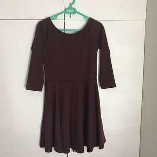 Forever 21 maroon skater dress