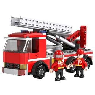 (Preorder) 220pcs fire engine building block