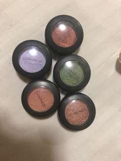 Assorted MAC eyeshadows