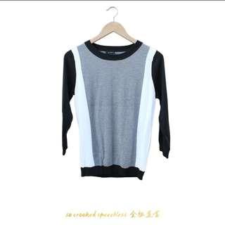 🚚 黑白灰三階/簡約/模糊地帶/針織上衣