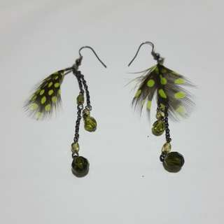 Feather Beads Earrings