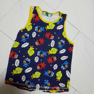Kids singlet Elmo sesame tree